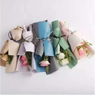 Flowers Wrapping Paper Translucent Waterproof Double Color