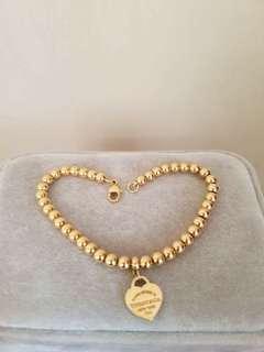 18k Tiffany Beads Bracelet