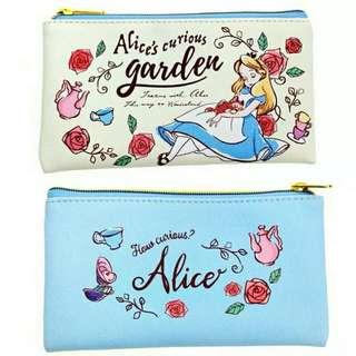 Disney alice 愛麗絲 筆袋