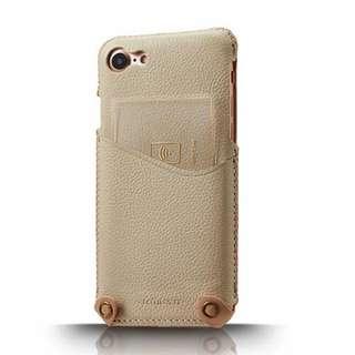 iPhone 7 / iPhone 8 /4.7吋 新極簡系列皮革保護套 - 杏白