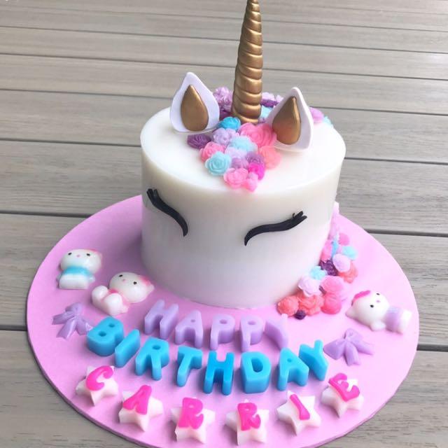3d Unicorn Agar Agar Cake Food Amp Drinks Baked Goods On