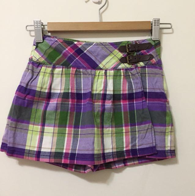 女童格子褲裙