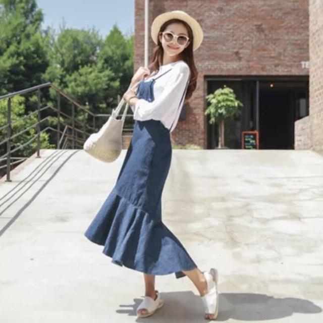 ⭐全新品⭐牛仔吊帶裙/魚尾裙/連身裙