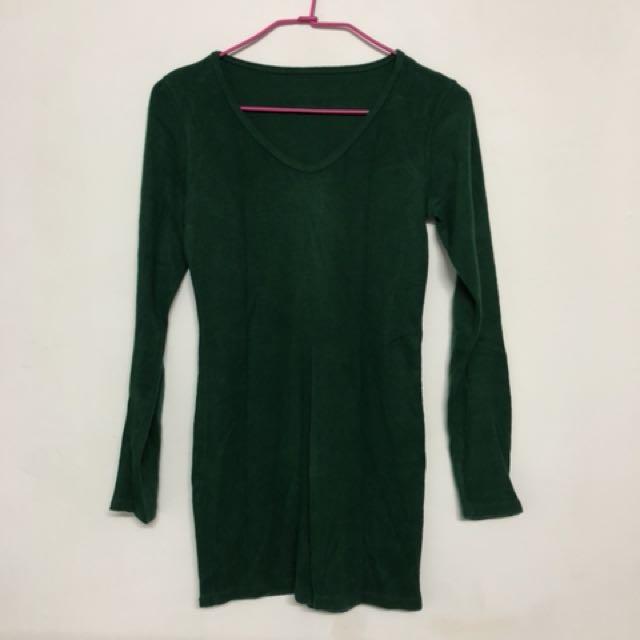 草綠刷毛上衣✨