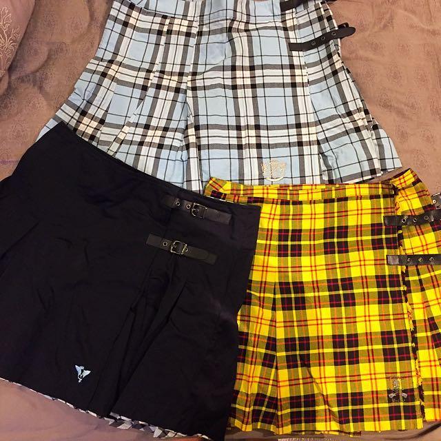 👩👧學院風 格子裙