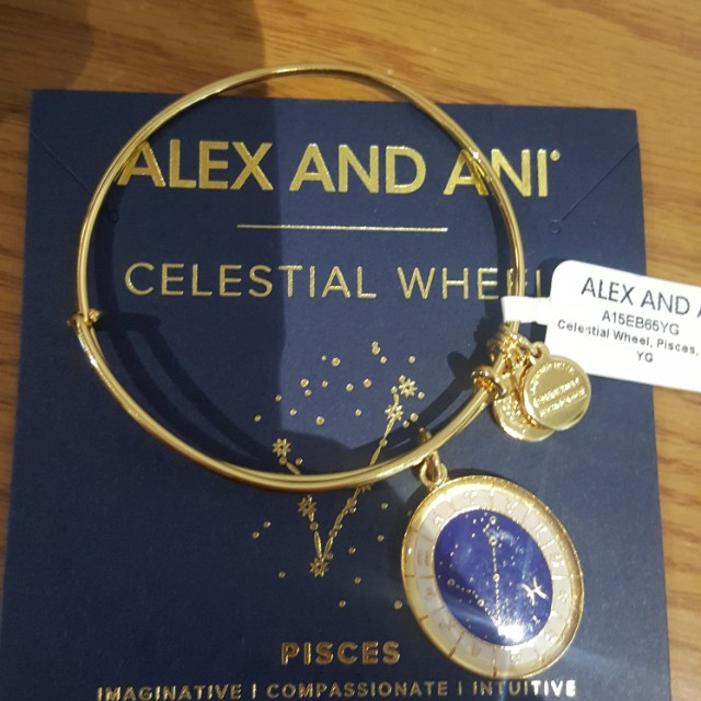 Alex and Ani Gold Pisces Bangle