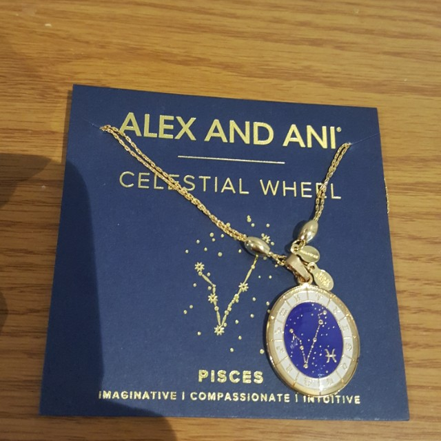 Alex and Ani Pisces Gold Necklace