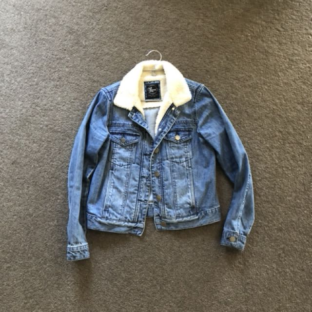All about eve denim shearling jacket