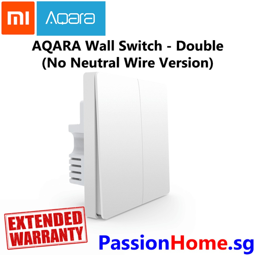 Aqara Wall Switch Double Gang - no need neutral wire (Passion Home ...