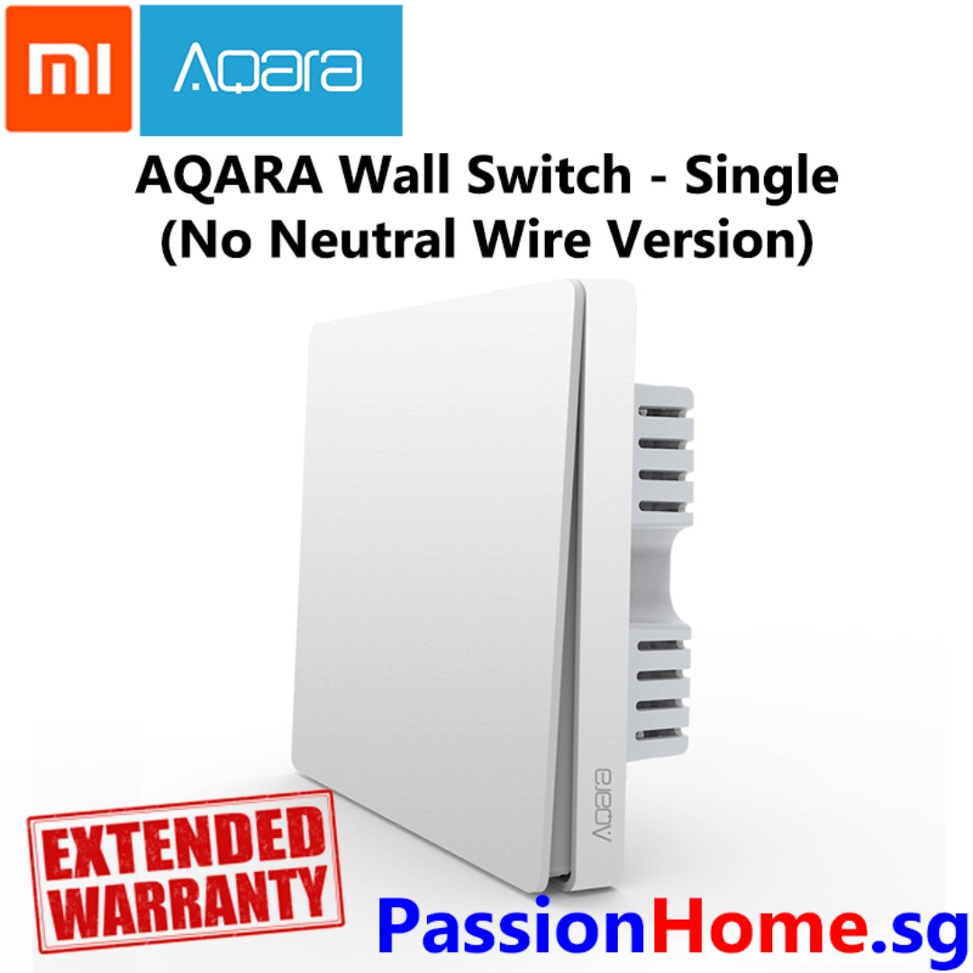 Aqara Wall Switch Single Gang - no neutral wire required (Passion ...
