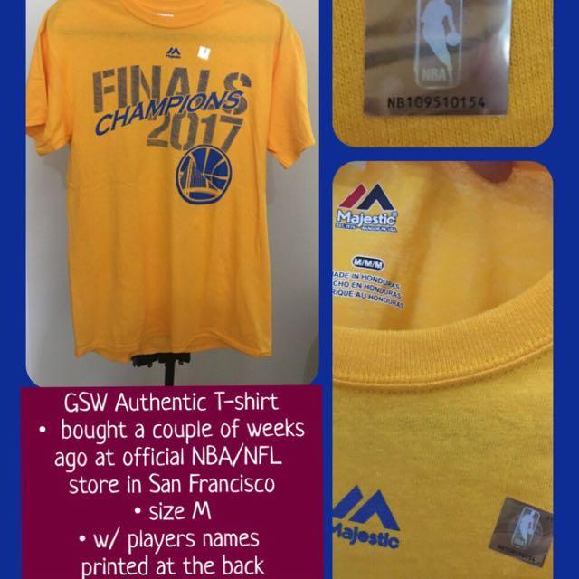 Authentic NBA Golden State Warriors shirt