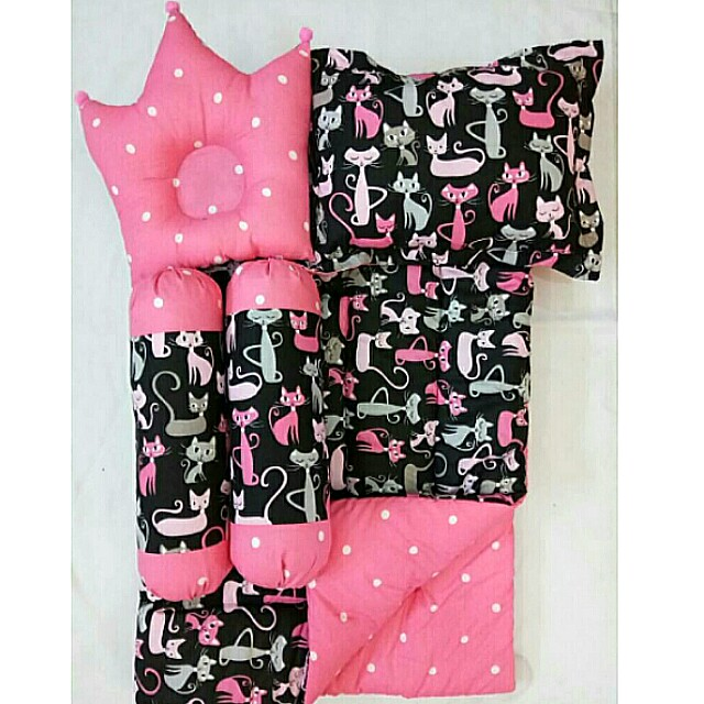 Baby Bed Set Pinky Cat