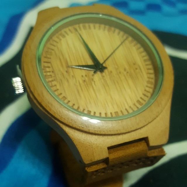 Bamboo watch leather straps