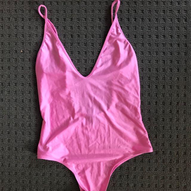 Bardot pink bodysuit