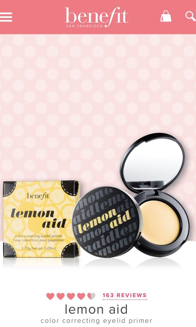 Benefit Lemon Aid eyelid primer