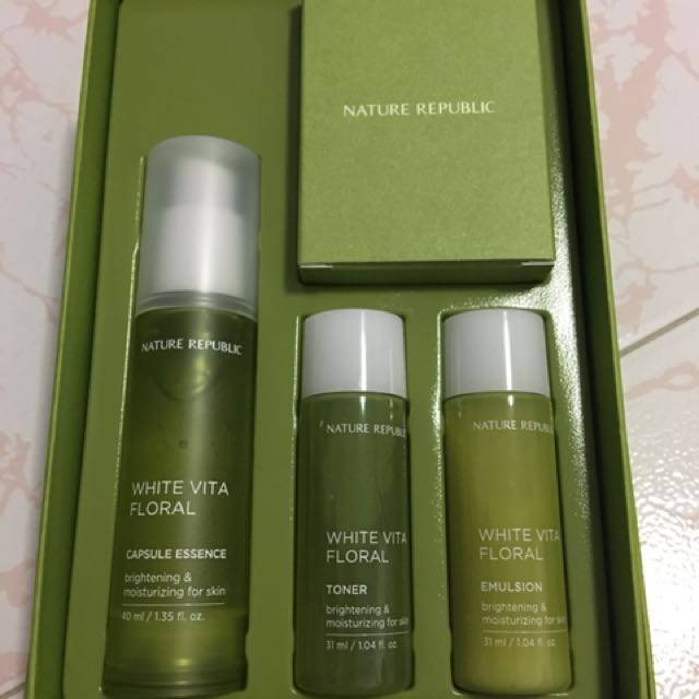 Bn Nature Republic White Vita Floral Capsule Essence Special Set