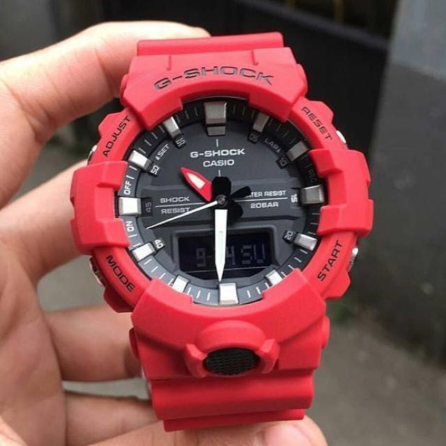 official photos 72e16 f30a2 Brand New 100% Authentic Casio Gshock Watch GA800 Red Series FREE DELIVERY  200m Unisex Watch G-Shock, Men s Fashion, Watches on Carousell