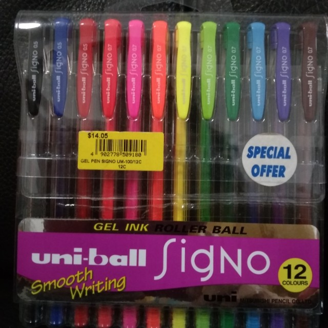 Brand New Uni-ball Signo Gel Ink Colour Pens, Books & Stationery ...