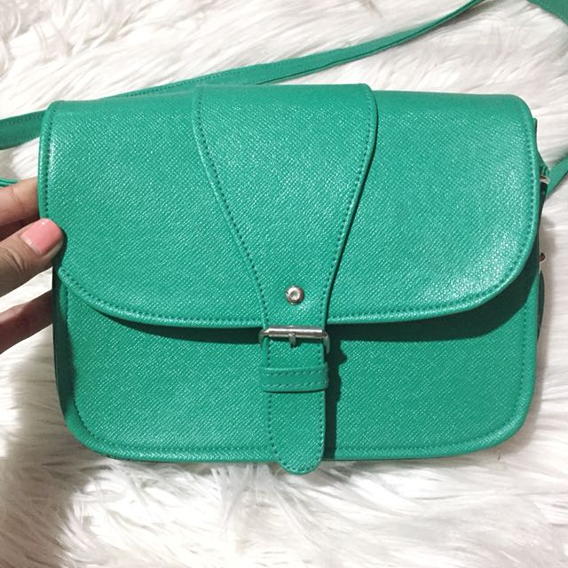 Candy Colored Leather Purse/ Bag