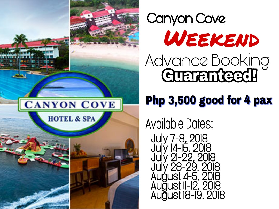Canyon Cove Weekend Advance Booking 2018
