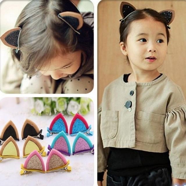 Cat ear kiddie hair accessories