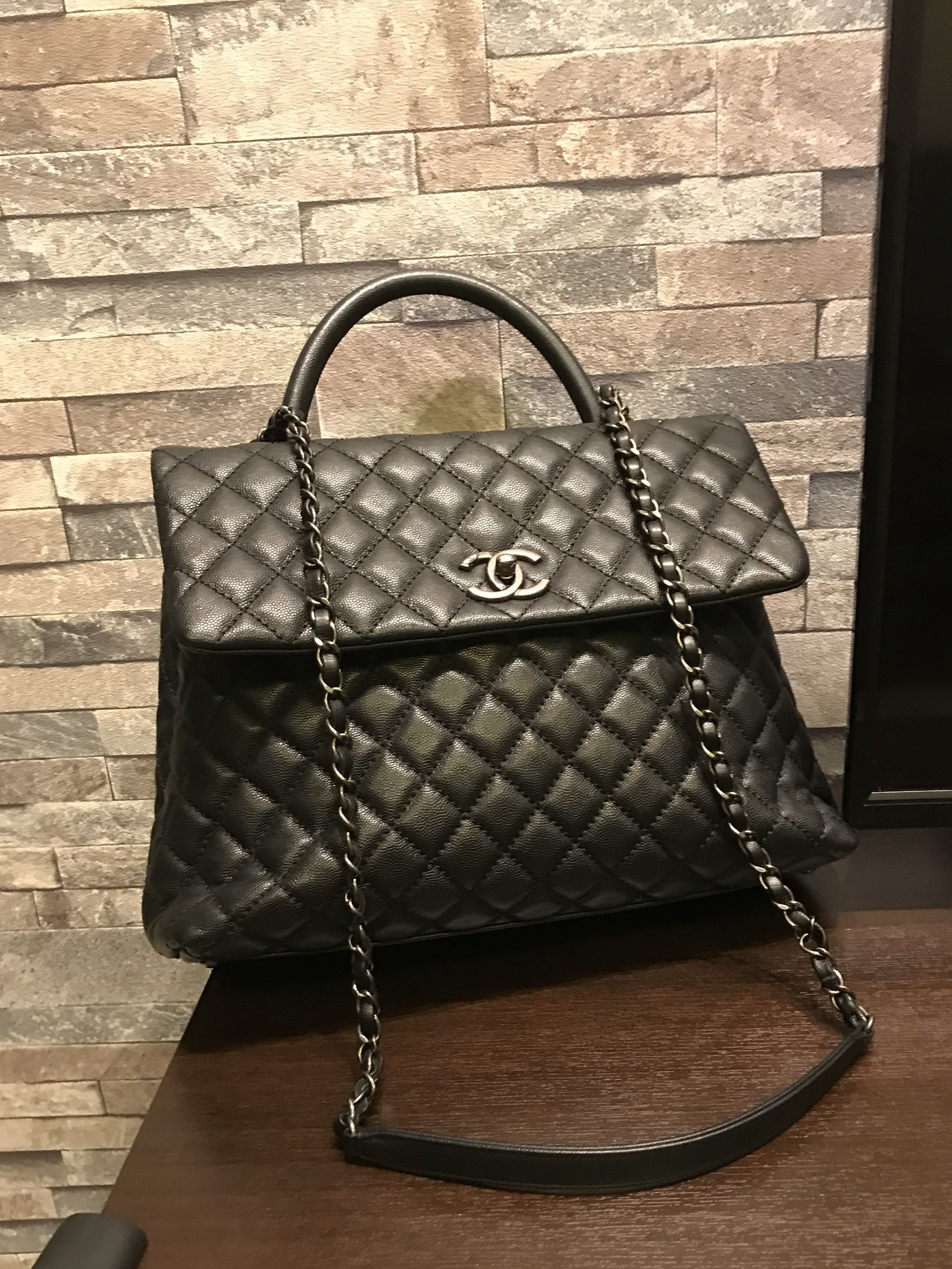 9c8447322ebb Chanel coco handle black large caviar rhw, Luxury, Bags & Wallets on  Carousell