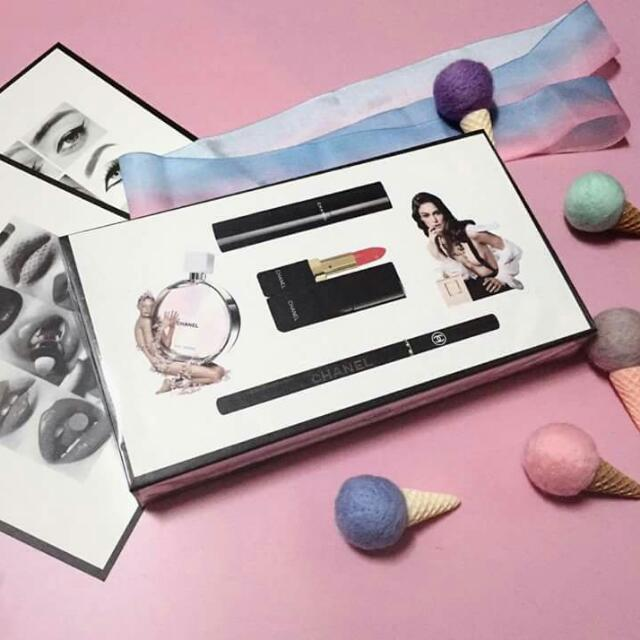 chanël 5in1 perfume and beauty set