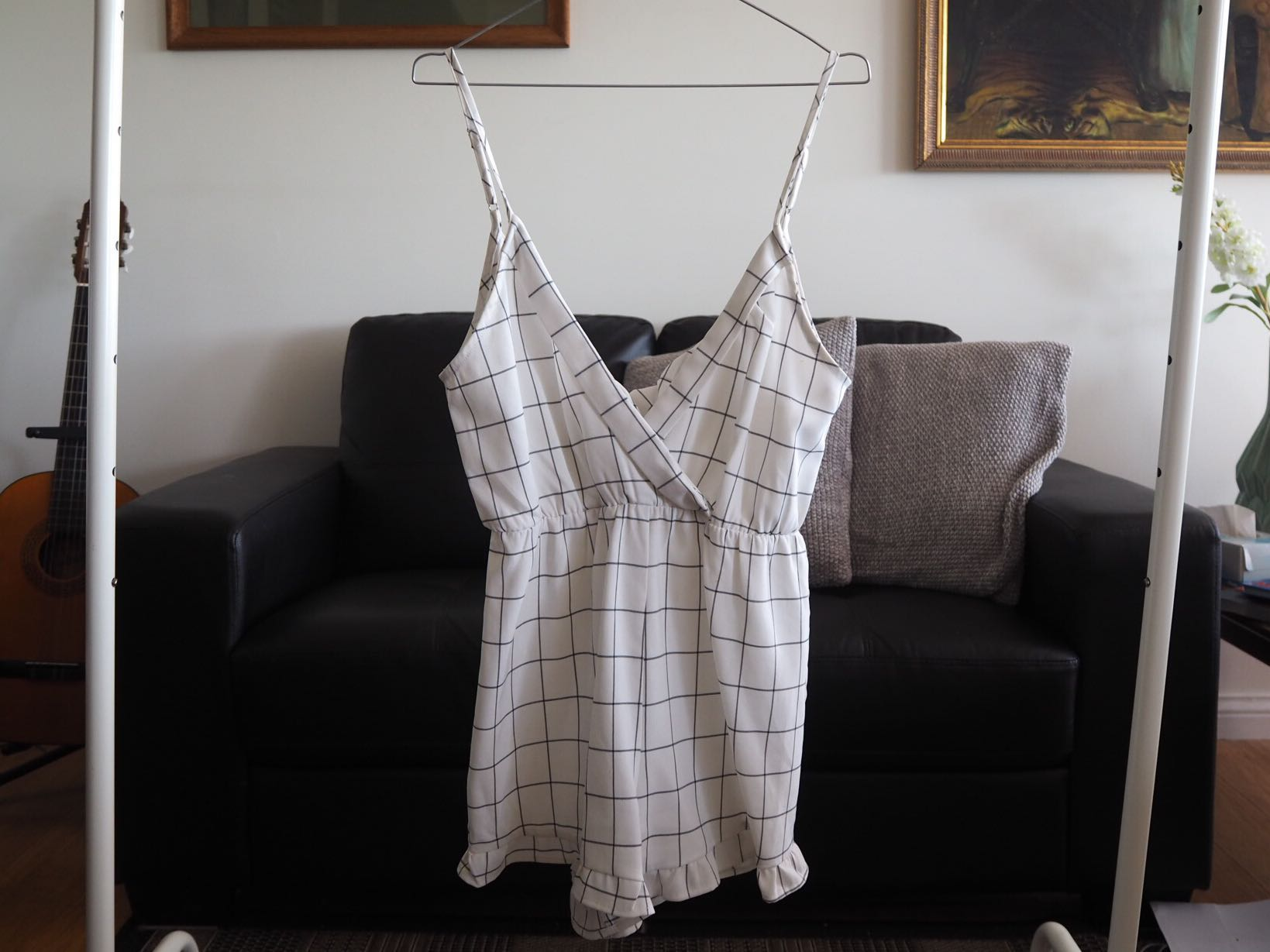 Checkered playsuit size 10