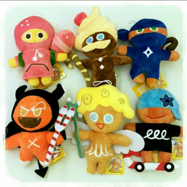 跑跑薑餅人cookie run 大逃亡 拐杖糖(6款一組)絨毛娃娃 棒棒糖 玩偶 吊飾 歐莉王