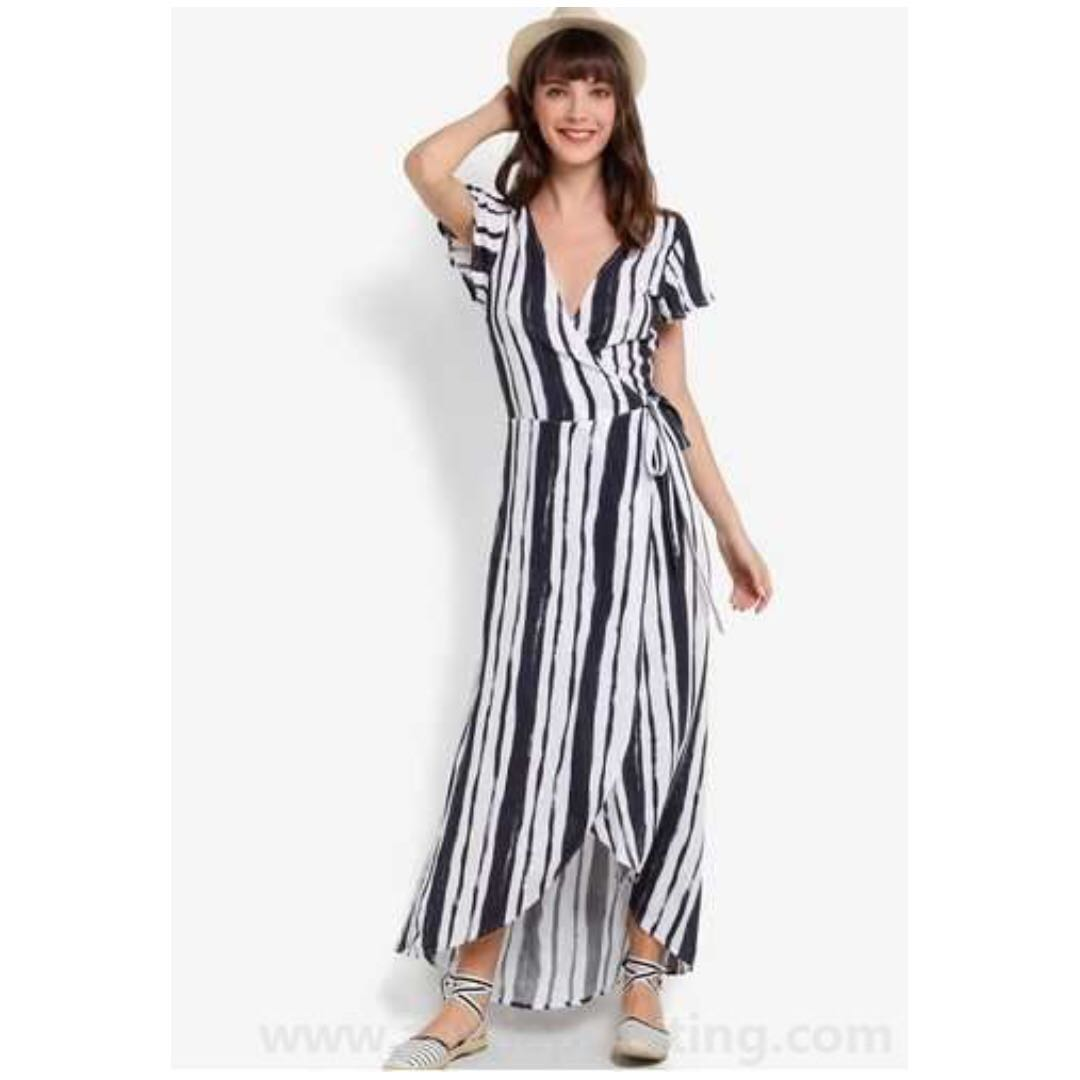 Cotton On Woven Lucy Wrap Maxi Dress
