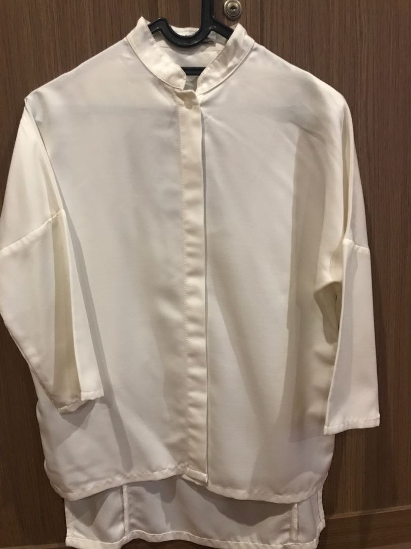 COTTONINK OFF WHITE BLOUSE ALL SIZE