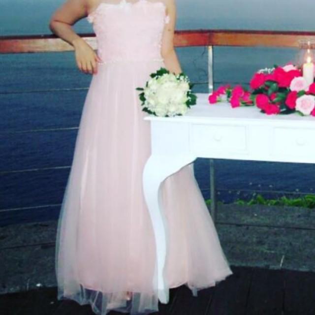 Dress Peach Imprt Thailand