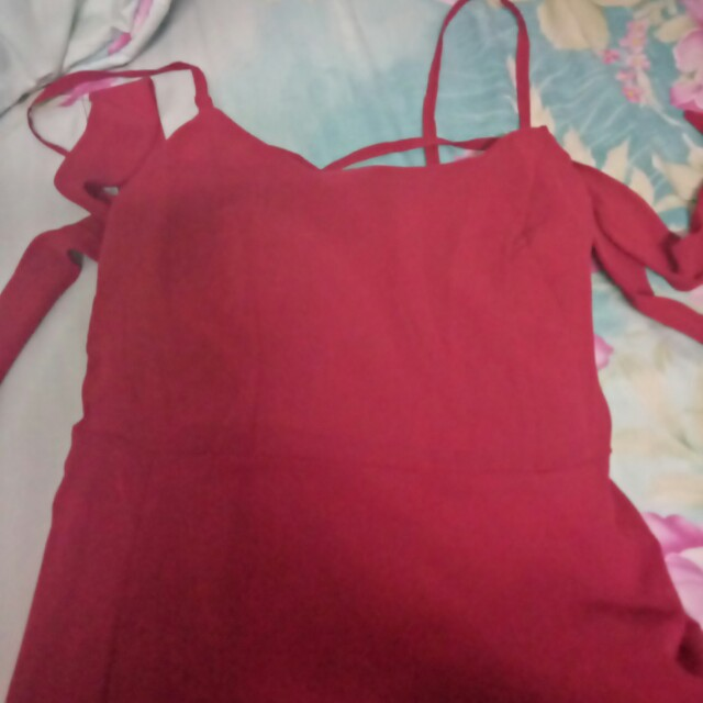 Dress red sexy import