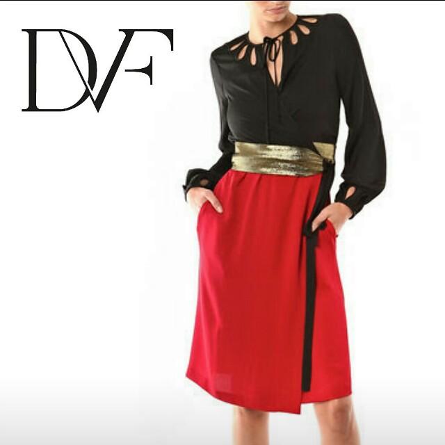 DVF DIANE VON FURSTENBERG sz 14  silk frock