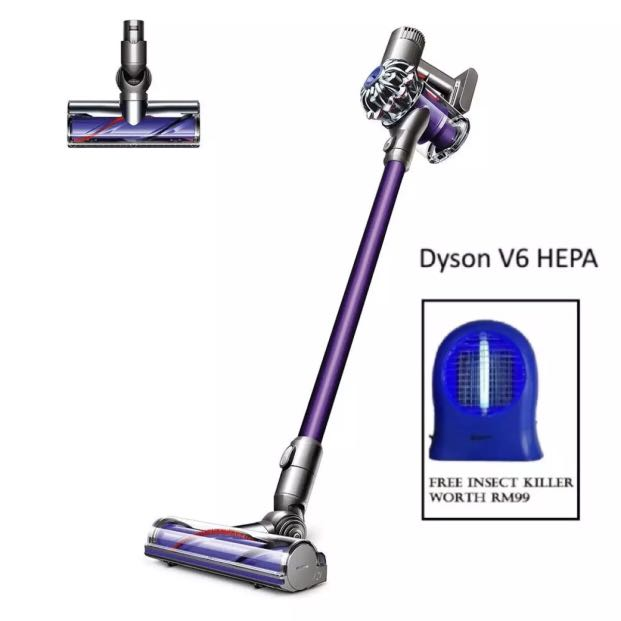 Dyson Cord Free V6 HEPA Vacuum Cleaner ( Free Insect Killer)