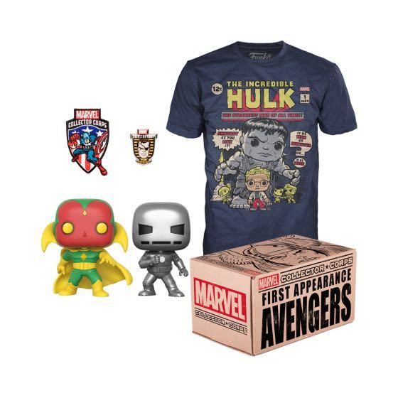 First Apperance Avengers (Vision & Iron man) MCC Funko Box