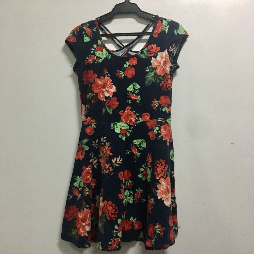 Floral Dress with Back Details