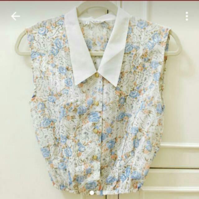 Flowery Japanese Crop Top