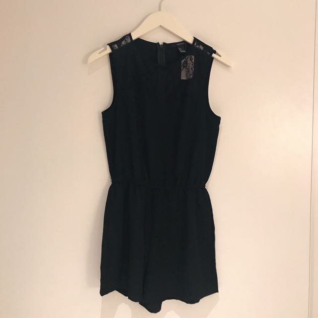 Forever21 black playsuit