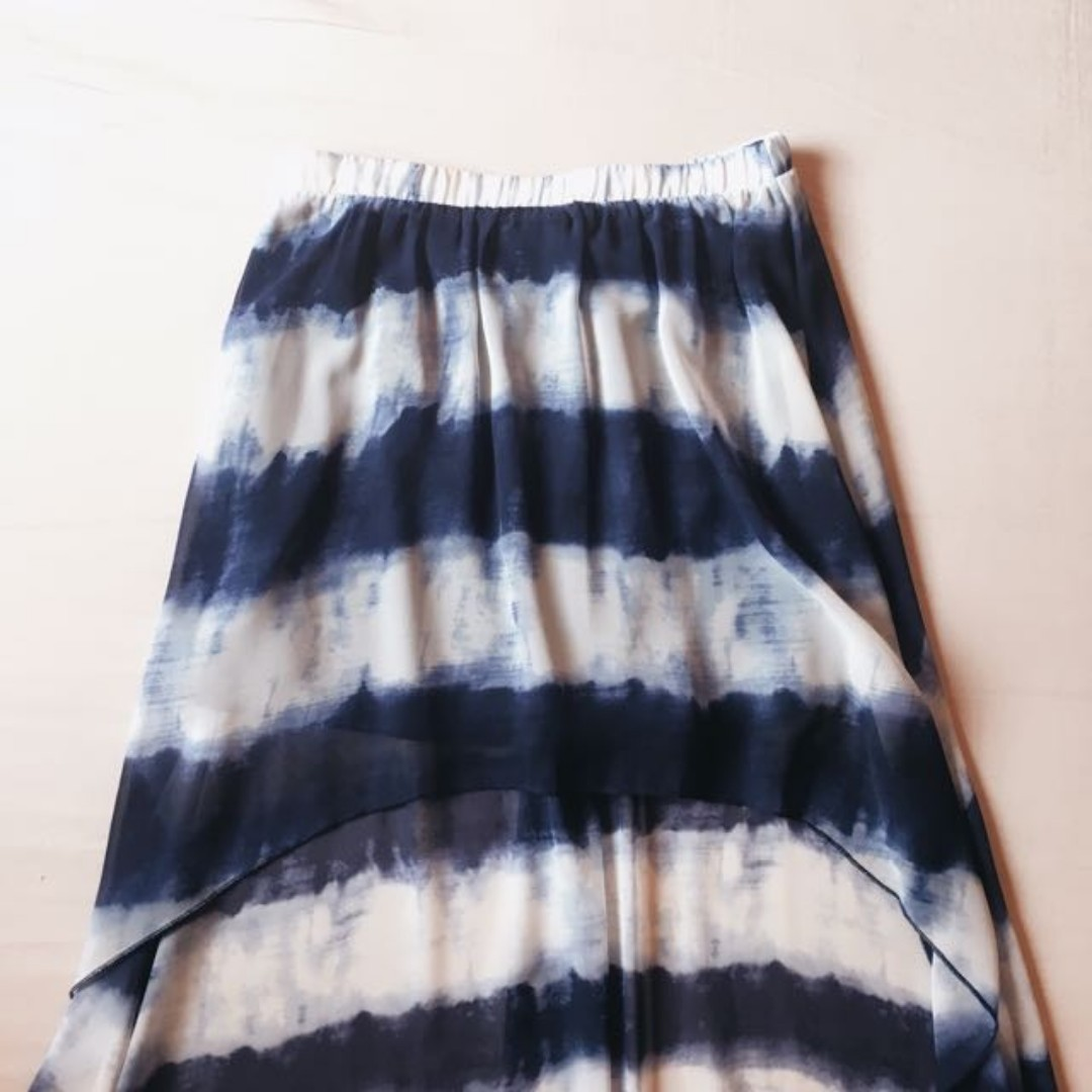 FOREVER 21 Tie-Dye High-Low Skirt