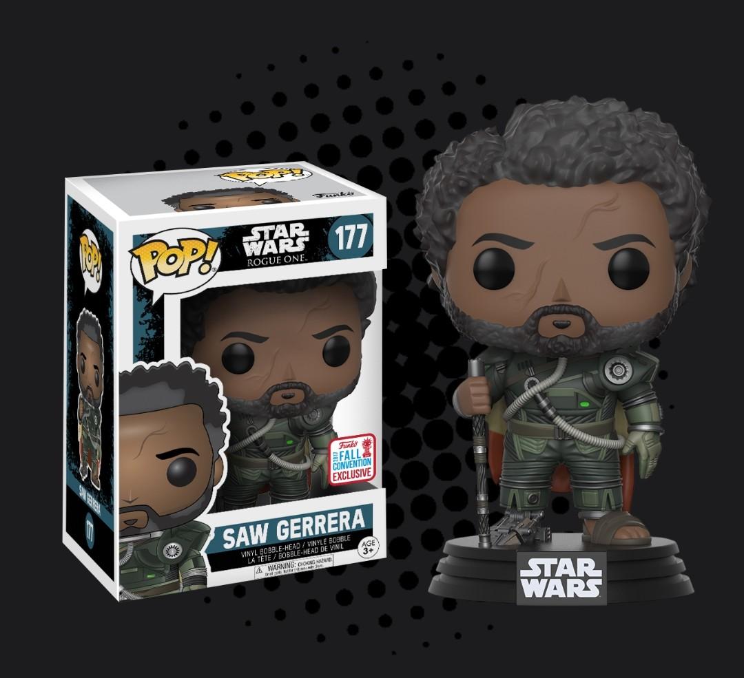 Star Wars: Rogue One Vinyl Figure 2017 Fall Con Saw Gerrera with Hair Pop