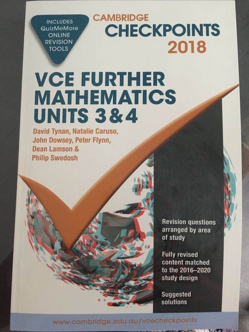 Further math checkpoints