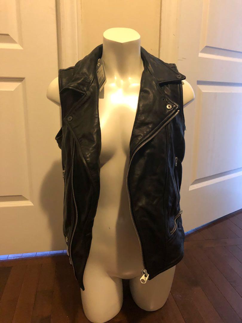 G star leather vest