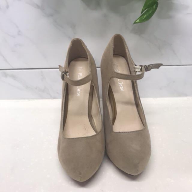 Grey/beige pumps