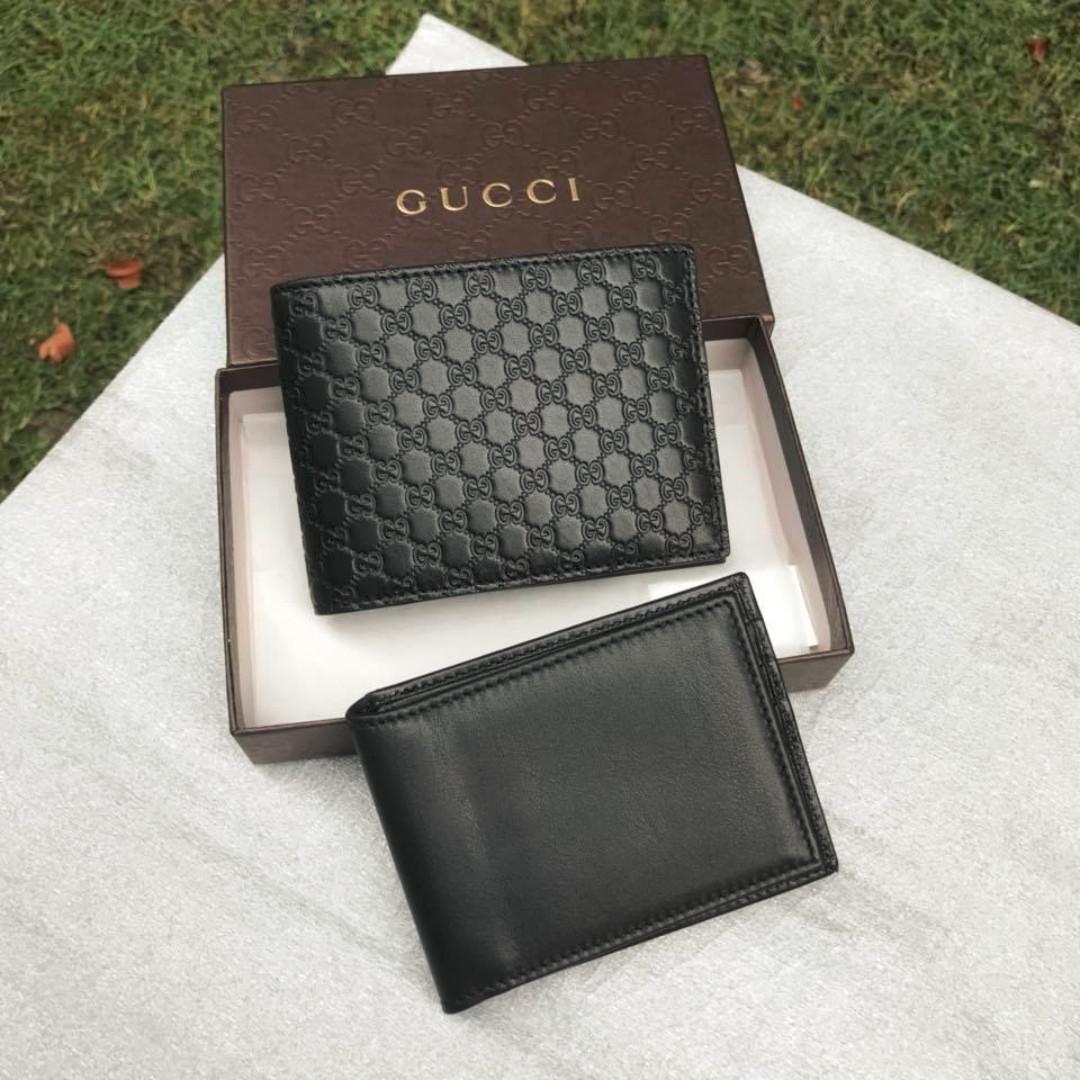 7e294c4e7dc Gucci Micro Guccissima Tri-fold Wallet in Classic Black