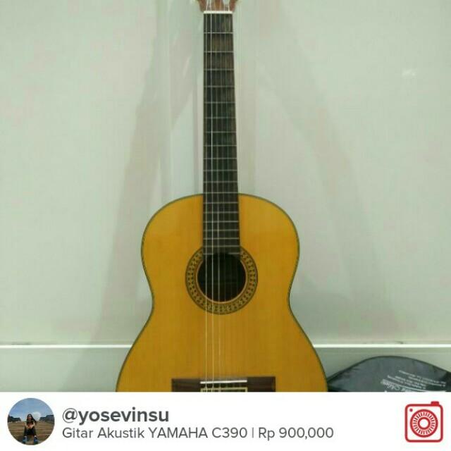 Guitar/ Gitar Yamaha Acoustic, Music & Media, Instruments on
