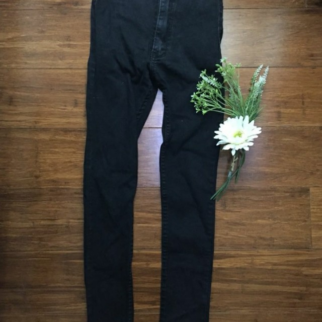 High waisted black jeans Repriced 150