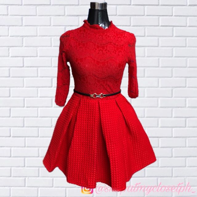 051d247a2 Hot Red Balloon Dress High Quality Thick on Carousell