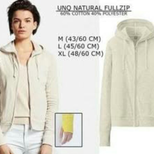 Jaket Full Zipper Uniqlo