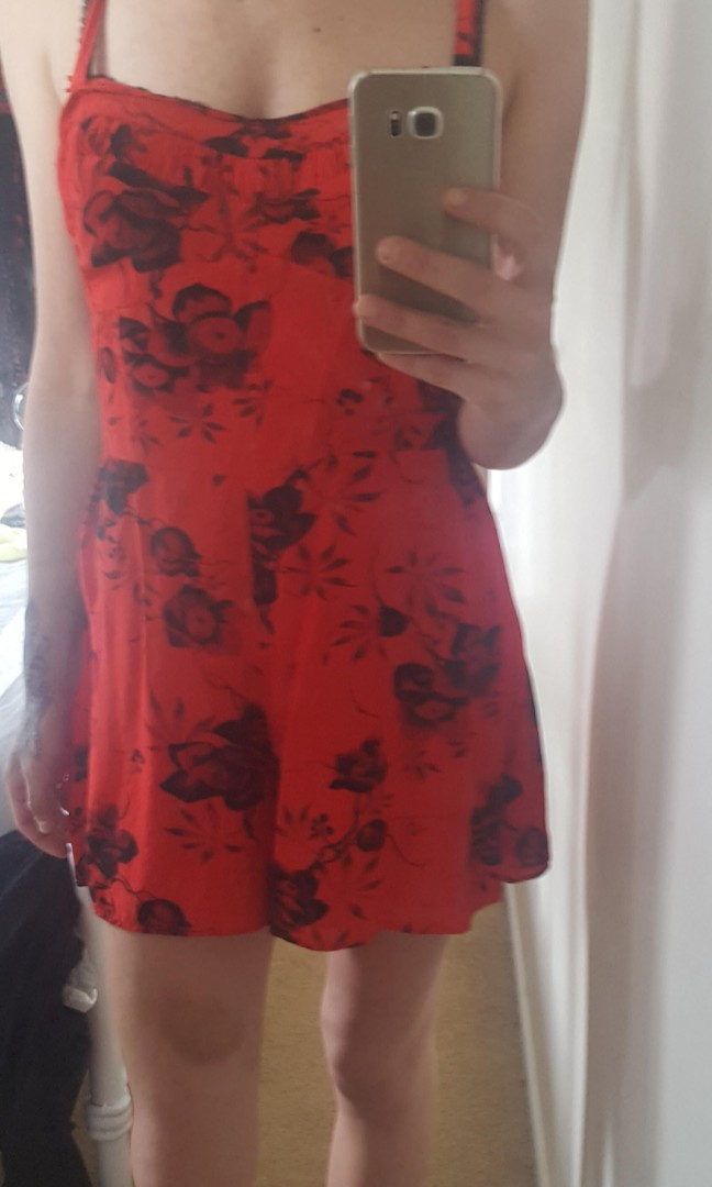 Jumpsuit red size 10